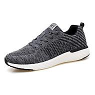 baratos Sapatos Masculinos-Homens Com Transparência Outono Conforto Tênis Caminhada Preto / Cinzento Claro