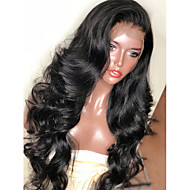 Synthetic Wig / Synthetic Lace Front Wig Wavy Kardashian Style Layered Haircut Lace Front Wig Black Natural Black Dark Brown Synthetic Hair Women's with Baby Hair / Soft / Heat Resistant Black Wig
