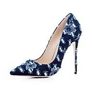 baratos Sapatos Femininos-Mulheres Sapatos Jeans Outono & inverno Plataforma Básica Saltos Salto Agulha Dedo Apontado Azul Marinho / Azul Claro / Festas & Noite