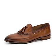 tanie Obuwie męskie-Męskie Buty Formalne Skóra nappa Lato Mokasyny i buty wsuwane brązowy / Migdałowy