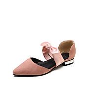baratos Sapatos Femininos-Mulheres Sapatos Camurça / Couro Ecológico Verão D'Orsay Rasos Sem Salto Dedo Apontado Preto / Rosa claro / Khaki