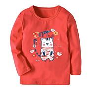 Børn Pige Trykt mønster Langærmet T-shirt