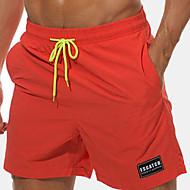 בגדי ריקוד גברים בוהו מידות גדולות כותנה צ'ינו / שורטים מכנסיים רקום / דפוס, אחיד / אותיות / קיץ / חוף