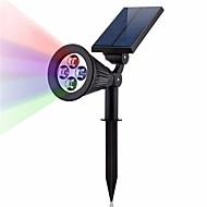 tanie Naświetlacze-1szt 2 W Reflektory LED / Światła do trawy Wodoodporne / Słoneczny / Dekoracyjna Ciepła biel / Zimna biel 3.7 V Oświetlenie zwenętrzne / Dziedziniec / Ogród