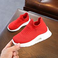 baratos Sapatos de Menina-Para Meninas Sapatos Tricô / Couro Ecológico Primavera Verão Conforto Tênis Caminhada para Adolescente Branco / Preto / Vermelho