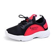 baratos Sapatos de Menino-Para Meninos Sapatos Tricô / Couro Ecológico Primavera Verão Conforto Tênis Caminhada para Adolescente Branco / Preto / Vermelho