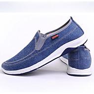 baratos Sapatos Masculinos-Homens Mocassim Lona Primavera Mocassins e Slip-Ons Azul Escuro / Azul Claro