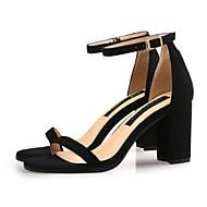baratos Sapatos Femininos-Mulheres Sapatos Couro Sintético Verão D'Orsay Sandálias Salto Robusto Dedo Aberto Presilha Amarelo / Marron / Vermelho