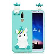 billiga Mobil cases & Skärmskydd-fodral Till Huawei Mate 10 lite / Mate 10 GDS (Gör det själv) Skal Enhörnings Mjukt TPU för Mate 10 / Mate 10 lite