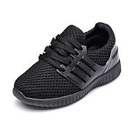 baratos Sapatos de Menino-Para Meninos / Para Meninas Sapatos Tricô Verão Conforto Tênis Corrida / Caminhada Cadarço / Combinação para Infantil Preto / Vermelho / Botas Curtas / Ankle