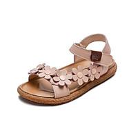 baratos Sapatos de Menina-Para Meninas Sapatos Couro Ecológico Primavera Verão Conforto Sandálias Flor para Infantil Bege / Marron / Rosa claro