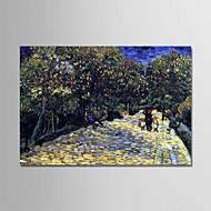 billiga Blom-/växtmålningar-Hang målad oljemålning HANDMÅLAD - Känd / Blommig / Botanisk Moderna Inkludera innerram / Sträckt kanfas