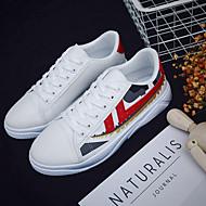 baratos Sapatos Masculinos-Homens Couro Ecológico Outono Conforto Tênis Prata / Rosa e Branco
