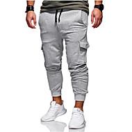 Homme Basique Joggings / Pantalon cargo Pantalon - Couleur Pleine Vert Véronèse / Printemps / Automne