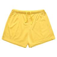 Men's Basic Plus Size Cotton / Linen Shorts Pants - Solid Colored Tassel Gray
