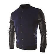 כותנה בגדי ריקוד גברים כחול נייבי יין אפור בהיר L XL XXL ג'קט בסיסי אחיד / שרוול ארוך / סתיו