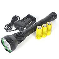 halpa -LED taskulamput / Käsivalaisimet LED 13000 lm Akuilla Ammattilais Telttailu / Retkely / Luolailu / Päivittäiskäyttöön / Poliisi / Armeija