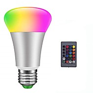 billige Globepærer med LED-1pc 10 W 900 lm E26 / E27 LED-globepærer / Smart LED-lampe 6 LED perler SMD 5050 Smart / Mulighet for demping / Fjernstyrt RGBW 85-265 V