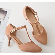 cheap -Women's Shoes PU(Polyurethane) Spring Comfort / Basic Pump Heels Stiletto Heel Black / Pink / Almond
