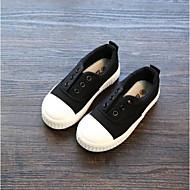 baratos Sapatos de Menino-Para Meninos / Para Meninas Sapatos Lona Primavera & Outono Conforto Mocassins e Slip-Ons Elástico para Infantil Cinzento / Vermelho / Azul