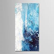 Hang-Painted Oliemaleri Hånd malede - Abstrakt / Ferier Moderne Lærred