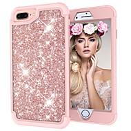 billiga Mobil cases & Skärmskydd-fodral Till Apple iPhone X / iPhone 8 Stötsäker / Glittrig Fodral Glittrig Hårt PC för iPhone X / iPhone 8 Plus / iPhone 8