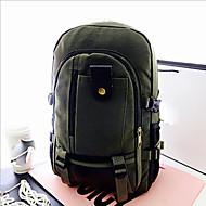 baratos Mochilas-Unisexo Bolsas Tela de pintura mochila Ziper Amêndoa / Verde Tropa / Khaki