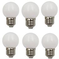 billige Globepærer med LED-6pcs 2 W 80 lm E26 / E27 LED-globepærer G45 8 LED perler SMD 2835 Dekorativ Varm hvit / Kjølig hvit 220-240 V