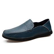 tanie Obuwie męskie-Męskie Nappa Leather Jesień & zima Comfort Mokasyny i pantofle Black / Light Brown / Ciemnozielony