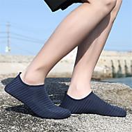 baratos Sapatos Femininos-Mulheres Sapatos Tecido elástico Primavera Verão Conforto Tênis Tênis Anfíbio Sem Salto Azul / Rosa claro / Azul Claro / Listrado