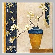 billiga Blom-/växtmålningar-Hang målad oljemålning HANDMÅLAD - Stilleben / Blommig / Botanisk Klassisk / Traditionell Duk