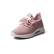 billige Træningssko til damer-Dame Sko Net Sommer Komfort Sportssko Løb Flade hæle Rund Tå Hvid / Sort / Lys pink