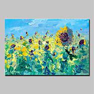 economico Dipinti ad olio-Hang-Dipinto ad olio Dipinta a mano - Paesaggi / Floreale / Botanical Modern Tela