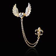 Herre Kvadratisk Zirconium Stilfuldt Brocher - Trendy, Mode, Elegant Broche Guld / Sølv Til Daglig / Ferie
