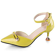 cheap -Women's Shoes PU(Polyurethane) Summer D'Orsay & Two-Piece Heels Stiletto Heel Pointed Toe Beige / Yellow / Pink