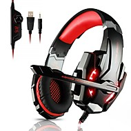 KOTION EACH G9000 Fejpánt Vezetékes Fejhallgatók Fejhallgató ABS + PC Játszás Fülhallgató Mikrofonnal / A hangerőszabályzóval Fejhallgató