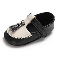 baratos Sapatos de Menino-Para Meninos / Para Meninas Sapatos Couro Ecológico Primavera & Outono Conforto / Primeiros Passos / Sapatos de Berço Rasos Mocassim / Velcro para Bebê Preto / Rosa claro / Festas & Noite