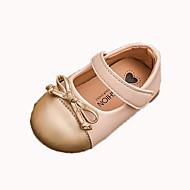 baratos Sapatos de Menina-Para Meninas Sapatos Couro Ecológico Primavera Verão Sapatos para Daminhas de Honra Rasos Caminhada Presilha para Infantil / Bébé Dourado / Preto / Vermelho