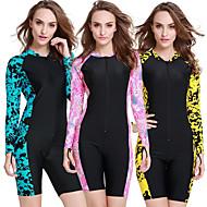 SBART Γυναικεία Dive κοστούμι του δέρματος Αναπνέει Γρήγορο Στέγνωμα Φοριέται Νάιλον Μακρυμάνικο Μαγιό Ρούχα παραλίας Patchwork Μποστινό Φερμουάρ Καταδύσεις Θαλάσσια Αθλήματα / Υψηλή Ελαστικότητα
