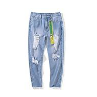 Herre Basale Jeans Bukser Geometrisk