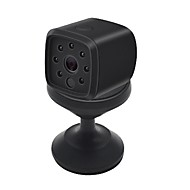 billige Innendørs IP Nettverkskameraer-HQCAM 720P 32G TF Card HD WIFI Mini IP Camera Night Vision Motion Detect Mini Camcorder Loop Video Recorder Built-in Battery Body Cam 1 mp IP Camera Innendørs Support0 GB