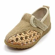 baratos Sapatos de Menino-Para Meninos Sapatos Linho Primavera & Outono Conforto Mocassins e Slip-Ons para Bege / Azul / Camel