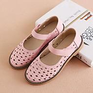 baratos Sapatos de Menina-Para Meninas Sapatos Pele Primavera Verão Conforto Sandálias Vazados para Infantil Branco / Rosa claro