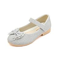 baratos Sapatos de Menina-Para Meninas Sapatos Couro Ecológico Primavera & Outono Sapatos para Daminhas de Honra Rasos Caminhada Pedrarias / Presilha para Infantil Dourado / Prateado / Rosa claro