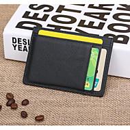Χαμηλού Κόστους Πορτοφόλι για Νομίσματα-Γιούνισεξ Τσάντες PU Θήκη για κέρματα Μονόχρωμο Μαύρο / Καφέ
