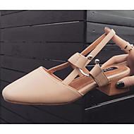 baratos Sapatos Femininos-Mulheres Sapatos Confortáveis Couro Ecológico Primavera Verão Tamancos e Mules Salto Robusto Bege / Amêndoa
