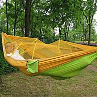 Campinghängematte mit Moskitonetz Außen Tragbar Leicht Anti - Moskito Nylon für 1 Person Strand Camping Camping / Wandern / Erkundungen Orange Gelb
