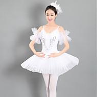 Ballet Dresses Women's Performance Spandex Ruching Sleeveless Tutus
