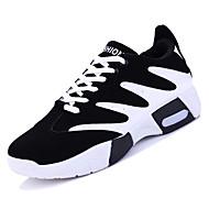 baratos Sapatos Masculinos-Homens Couro Ecológico Outono Conforto Tênis Basquete Estampa Colorida Branco / Vermelho / Azul