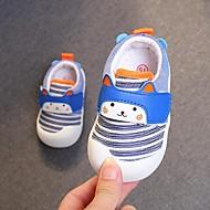 baratos Sapatos de Menino-Para Meninos / Para Meninas Sapatos Algodão Verão Primeiros Passos Rasos Velcro para Bebê Cinzento / Azul / Rosa claro